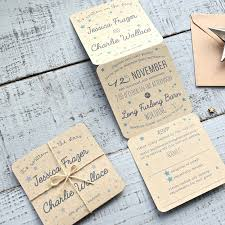 tri fold wedding invitations tri folded recycled wedding invitation by paper and inc
