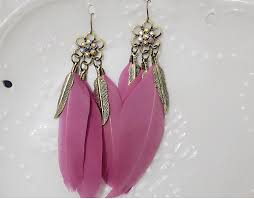 feather earring european style vintage feather earrings pickflash