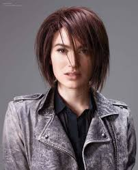 deconstructed bob hairstyle bob hairstyle with steep vertical cuts throughout
