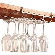 amazon com gelive under cabinet stemware holder wine glass rack