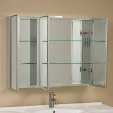 tri fold mirror bathroom cabinet bathroom clairement series aluminum tri view medicine cabinet