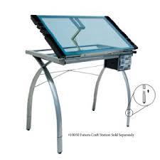 Contemporary Drafting Table Amazon Com Studio Designs 10050 Futura Craft Station Silver Blue