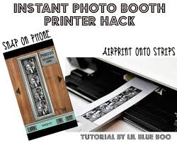 photo booth printers instant photo booth printer hack lil blue boo photo booth