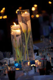 Vases With Flowers And Floating Candles Wedding Centerpiece Rentals Michigan Crystal Candelabras U0026 More