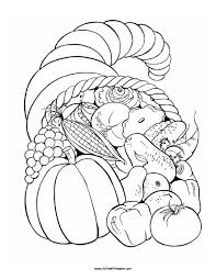 thanksgiving fruit basket coloring page free printable