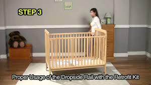 delta convertible crib instructions rails retrofit kit dropside crib instructions video mov youtube