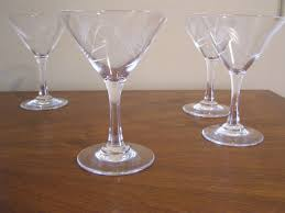 martini vintage vintage wheatsheaf pattern martini glasses collectors weekly