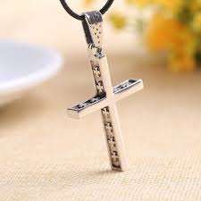 mens engraved necklaces 2017 mens new boyfriend name engraved plain cross