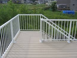 aluminum deck railing systems white u2014 railing stairs and kitchen