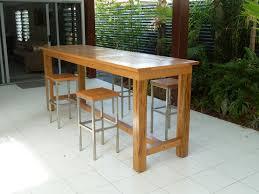 exterior long narrow rectangle alfresco dining table feat four