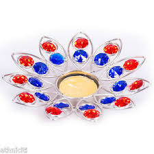 star shaped tea lights star shaped tea light holder colourful crystal white metal decor