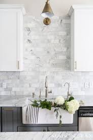 white subway tile marble backsplash kitchens sink updates kitchen