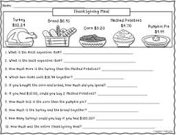 free thanksgiving math worksheets free worksheets library