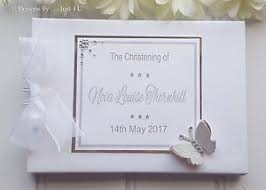 christening photo album personalised wedding christening silver guest book photo