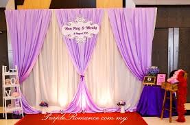 wedding backdrop design malaysia wedding decoration at green restaurant seremban 2 purple