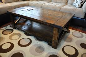 coffee table mission tables solid wood style rustic for sale