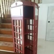 london phone booth bookcase london phone booth book shelf home furniture home decor on carousell