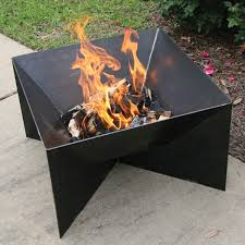 bayou classic 900 524 24 raw steel fire pit in black with side