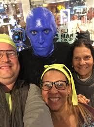 Blue Man Group Halloween Costume Blue Man Group Luxor Las Vegas Picture Blue Man Group
