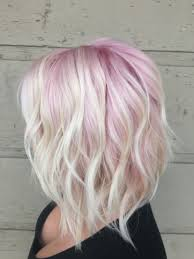 older women with platinum blonde pink hair pastel pink and blonde hair pastel ombre long bob blondes