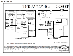 the avery plan in wades grove new homes of spring hill tn