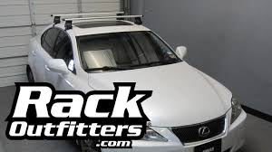 white lexus with black roof lexus is 250 thule rapid traverse silver aeroblade base roof rack