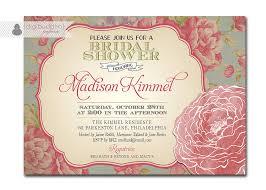 vintage bridal shower invitations bridal shower invitation vintage rustic floral chic