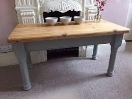 pine coffee hall table stripped top u0026 annie sloan u0027paris grey