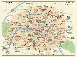 Amsterdam Metro Map by 1956 Paris Metro Map Digital Recreation 4 Color U2013 Large