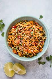 cold soba noodle salad with a spicy peanut sauce u2022 salt u0026 lavender
