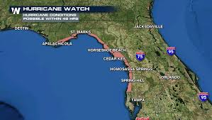 Map Of Florida East Coast Beaches by Hurricane Watch Issued Along Florida Gulf Coast Weathernation