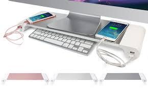 support ecran pc pour bureau support 4 ports usb pc portable groupon shopping