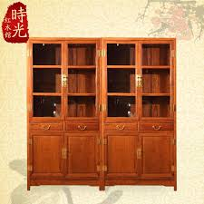 Mahogany Display Cabinets With Glass Doors by 2017 Rosewood Mahogany Furniture Chinese Antique Bookcase Double