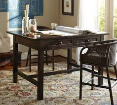 pottery barn counter height table project table heritage espresso finish pottery barn
