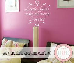 little girls make the world sweeter wall decal sisters play zoom