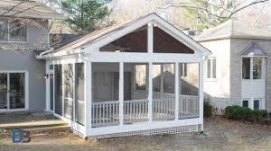 diy screened in porch delightful outdoor ideas