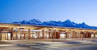 Mountain Backdrop Exposed Glulam Framework Offers Quiet Complement To Jackson Hole