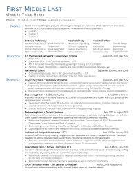Resume Mechanical Engineering Entry Level Mechanical Engineering Resume Sample Entry Level
