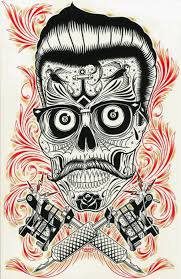 ronnie should get a skull similar to this one looks retro
