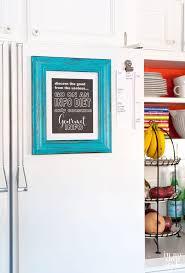 kitchen artwork ideas fridge gets framed in my own style