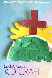 paper plate easter scene kid craft scene kids and easter