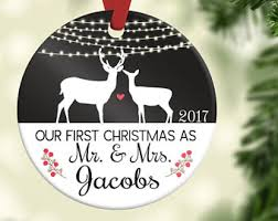personalized christmas ornaments wedding wedding ornaments etsy