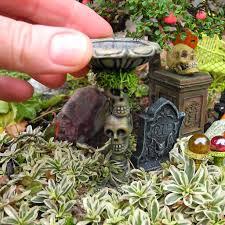 decorating fun in the miniature halloween garden diy halloween