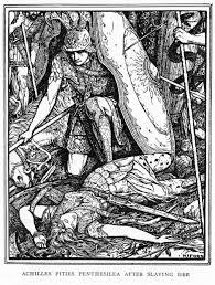 achilles with penthesilea the trojan war in art pinterest