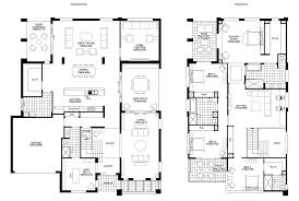 Free House Plans And Designs Two Storey Residential House Floor Plan With Elevation Interior