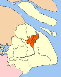Shanghai China Map by Puxi Wikipedia