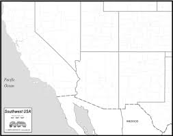 Usa Map Blank by Free Map Of Southwest States