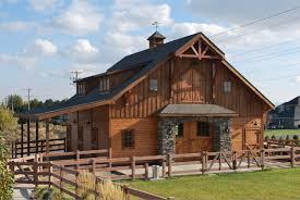 garage minimalist design of the barnpros timber framed home wit