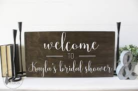 bridal shower signs customized welcome bridal shower wooden sign house of jason