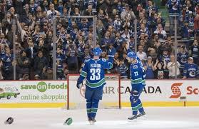 for a one last time in vancouver henrik sedin to daniel sedin for a